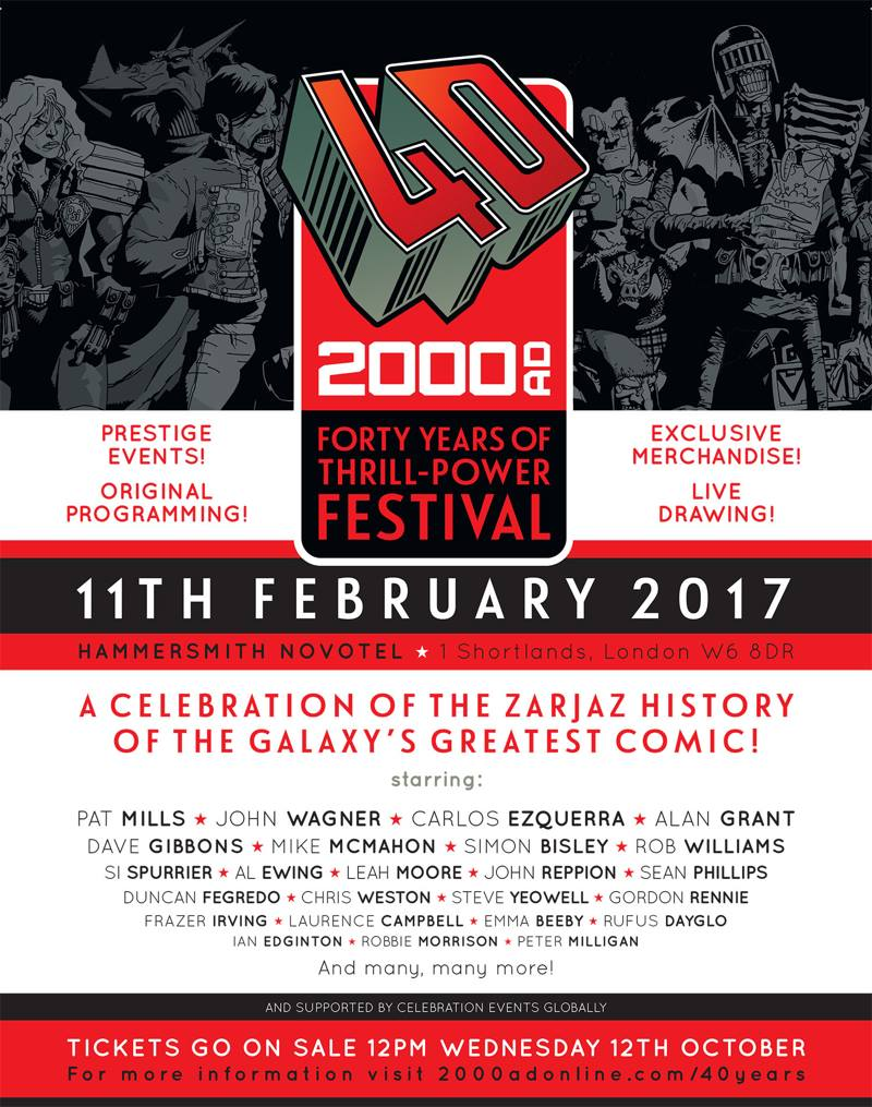 2000AD 40th Birthday Festival