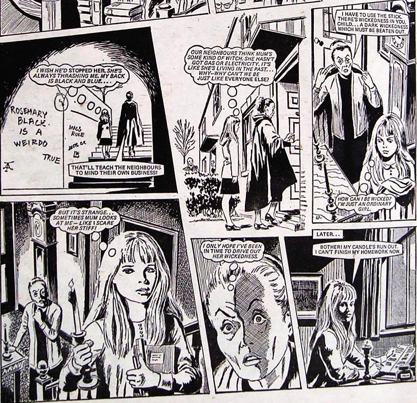 Moonchild, Misty's No. 1 story. Story: Pat Mills, Art: John Armstrong