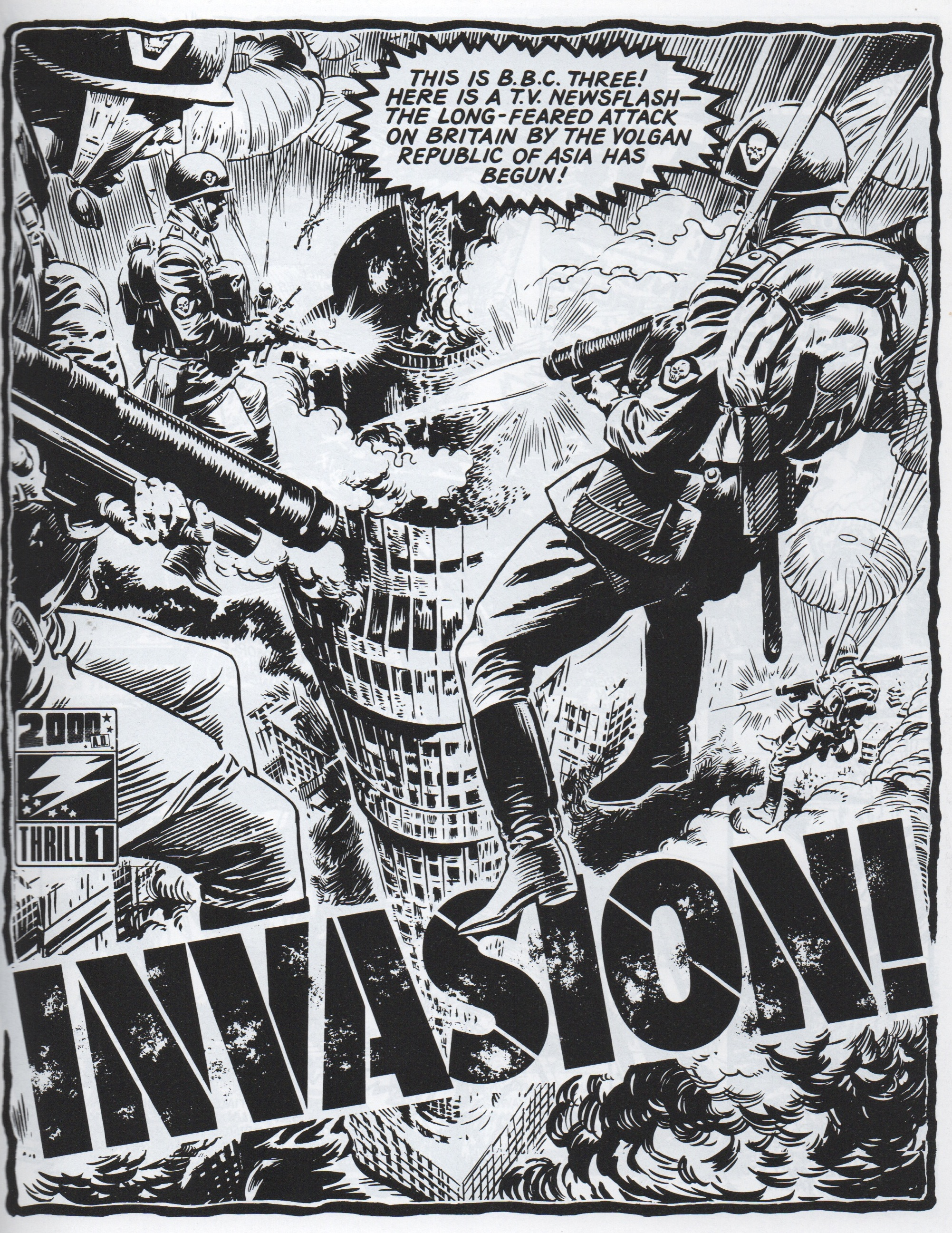 Invasion! Episode 1. Story: Pat Mills. Art: Jesus Blasco.