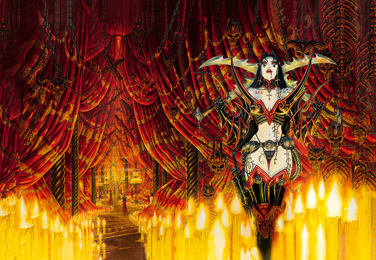 Olivier's wraparound cover for Requem 2: Danse Macabre