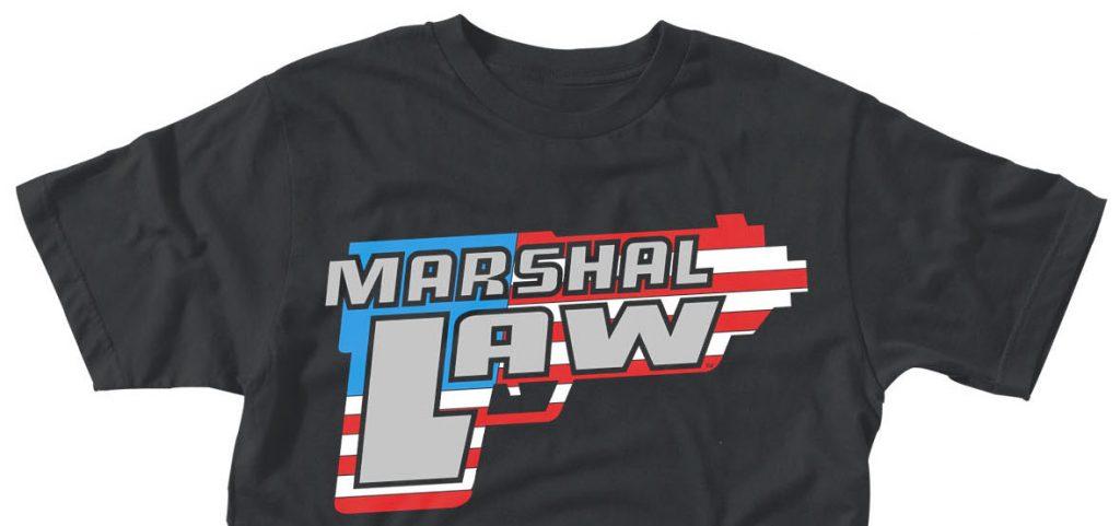 Marshal Law logo t-shirt Plastichead