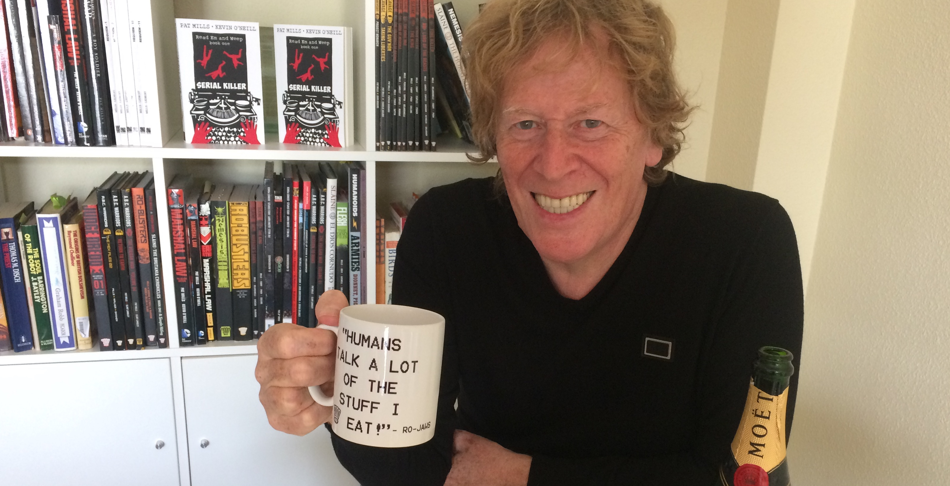 Pat Mills celebrates 2000AD's 40th