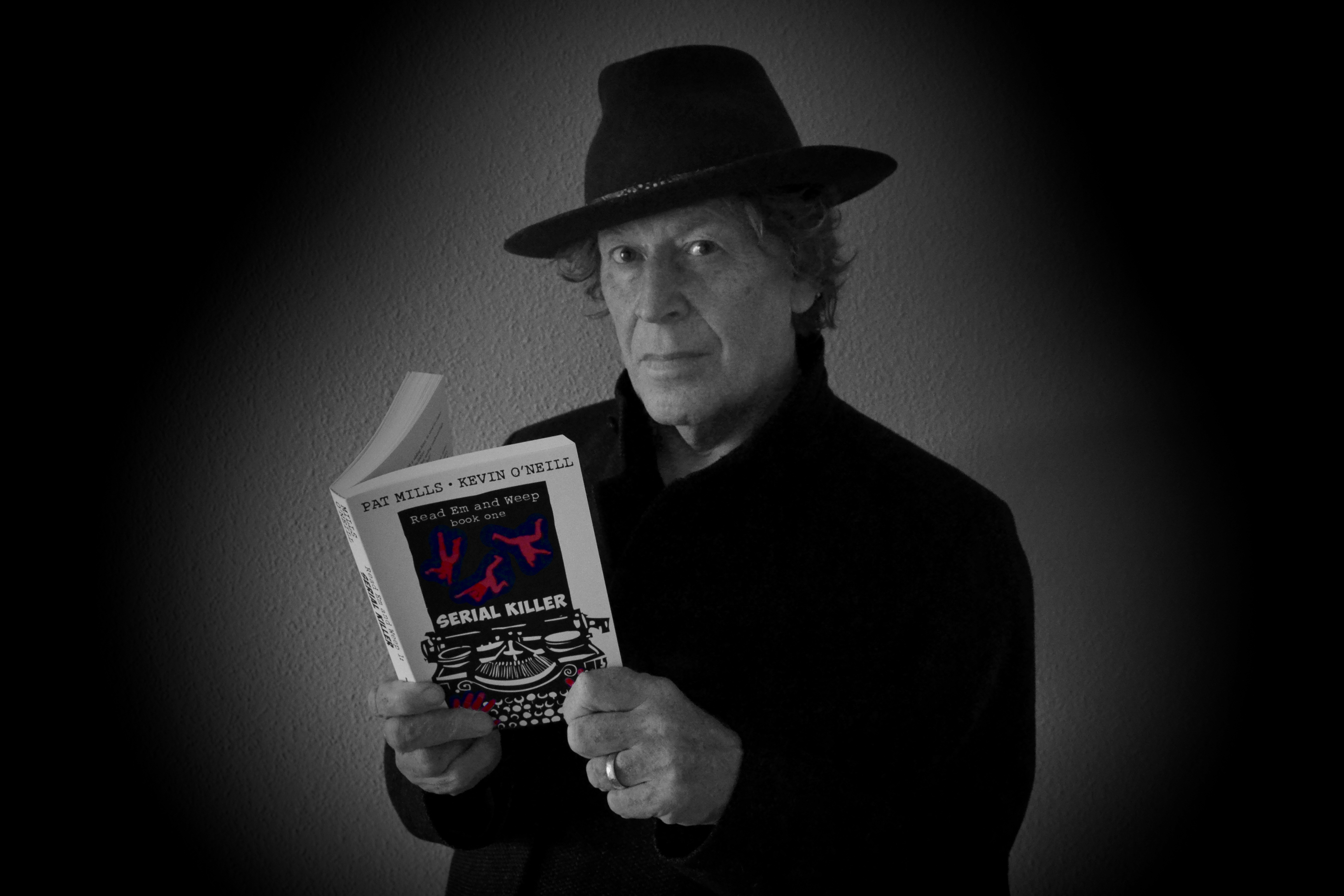 Pat Mills with Serial Killer paperback