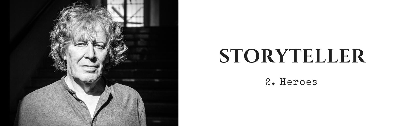 Pat Mills Storyteller #2 Heroes photo by Richard Klicnik