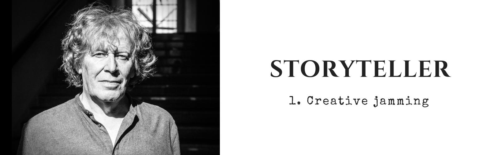 Pat Mills Storyteller #1 Creative jamming photo by Richard Klicnik
