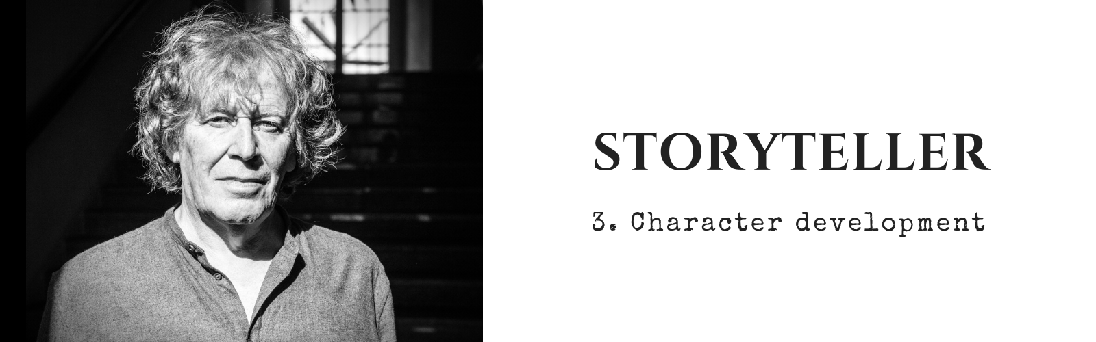 Pat Mills by Richard Klicnik header image STORYTELLER 3 Character development