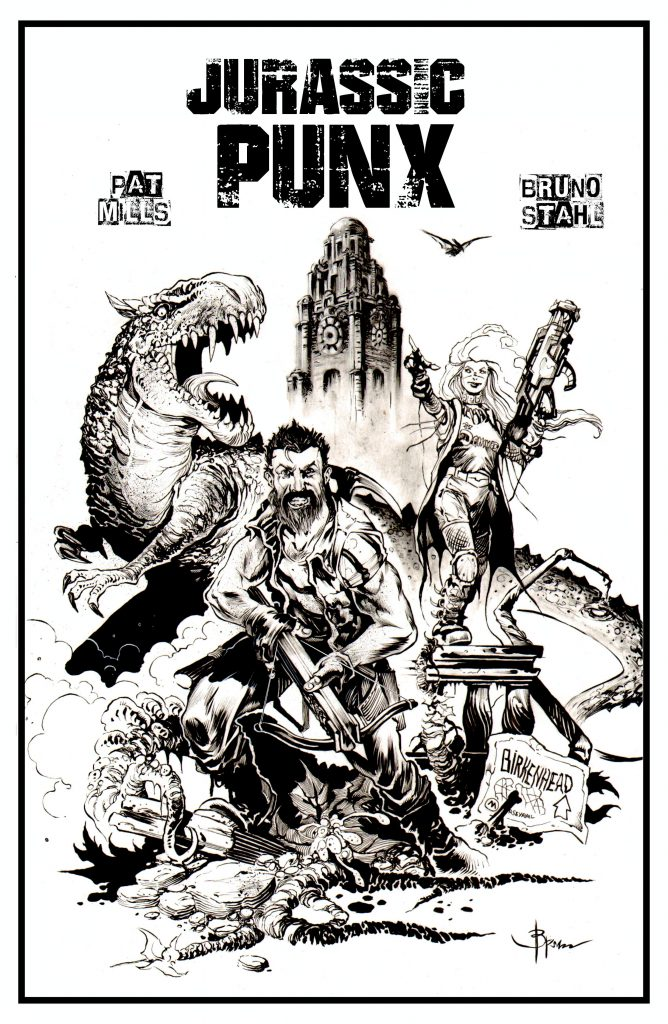 Promo art of Jurassic Punx featuring by Bruno Stahl