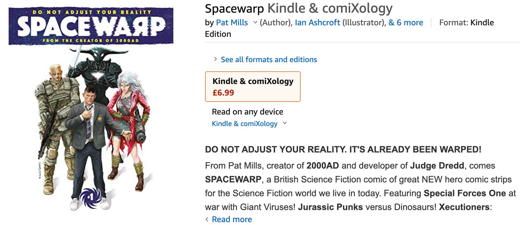 Spacewarp on Amazon Kindle